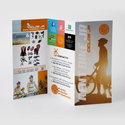 publicidad diseño flyer rent cycle jr